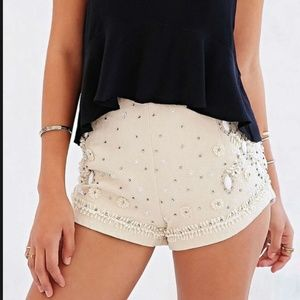Urban Outfitters Kimchi Blue Beaded Shorts